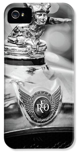 1929 Reo Flying Cloud Master Sport Roadster Hood Ornament - Emblem -0826bw IPhone 5 Case by Jill Reger