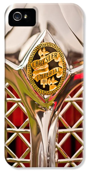 1931 Chrysler Cg Imperial Lebaron Roadster Grille Emblem -2664c46 IPhone 5 Case by Jill Reger