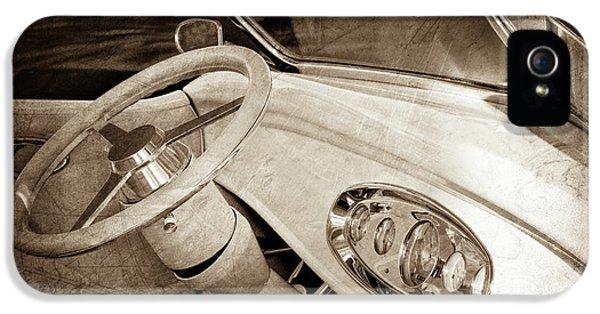1932 Ford Roadster Steering Wheel -0225s IPhone 5 Case by Jill Reger