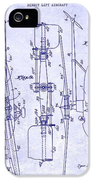 1935 Helicopter Patent Blueprint IPhone 5 Case