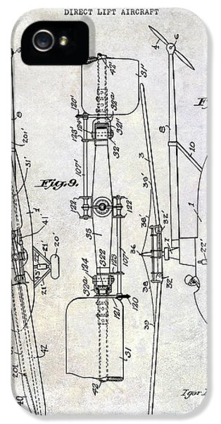 1935 Helicopter Patent  IPhone 5 Case