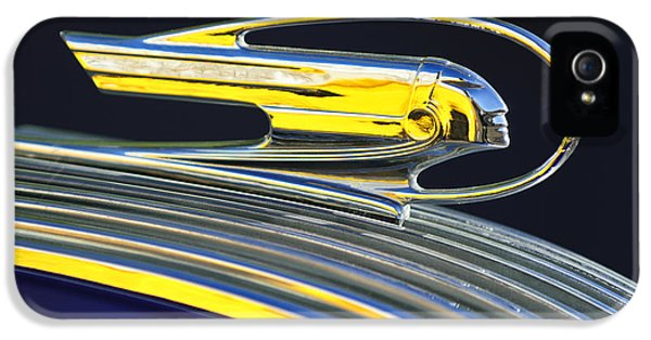 1936 iPhone 5 Cases - 1936 Pontiac Hood Ornament iPhone 5 Case by Jill Reger
