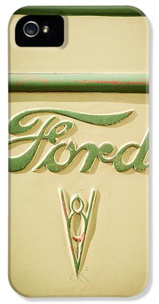 1938 Ford Rat Rod Panel Truck V8 Emblem -ck0119c IPhone 5 Case