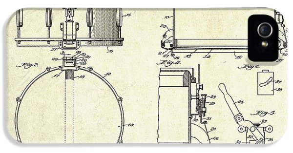 1939 Slingerland Snare Drum Patent Sheets IPhone 5 Case