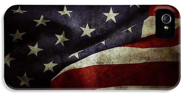 American Flag IPhone 5 Case by Les Cunliffe