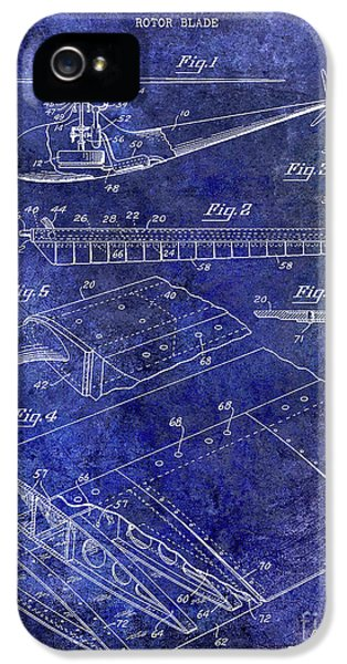 1949 Helicopter Patent Blue IPhone 5 Case