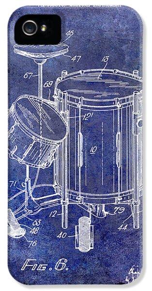 1951 Drum Kit Patent Blue IPhone 5 Case
