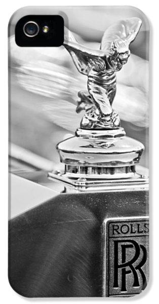 1952 Rolls-royce Silver Wraith Hood Ornament 2 IPhone 5 Case by Jill Reger