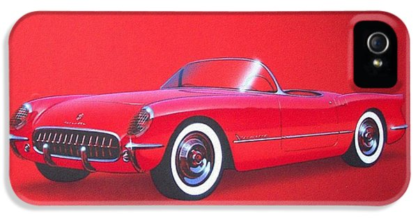 Roadrunner iPhone 5 Case - 1953 Corvette Classic Vintage Sports Car Automotive Art by John Samsen