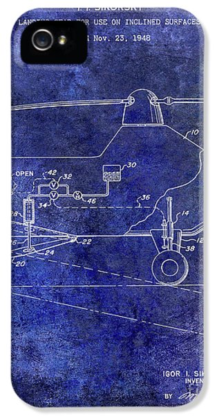 1953 Helicopter Patent Blue IPhone 5 Case