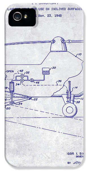 1953 Helicopter Patent Blueprint IPhone 5 Case