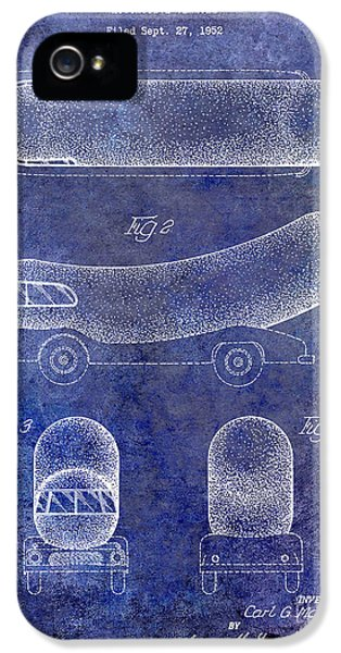 1954 Weiner Mobile Patent Blue IPhone 5 Case