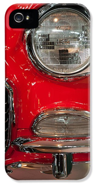 1955 Chevy Bel Air Headlight IPhone 5 Case by Sebastian Musial