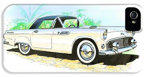 Gil iPhone 5 Case - 1955 Thunderbird Painting by John Samsen