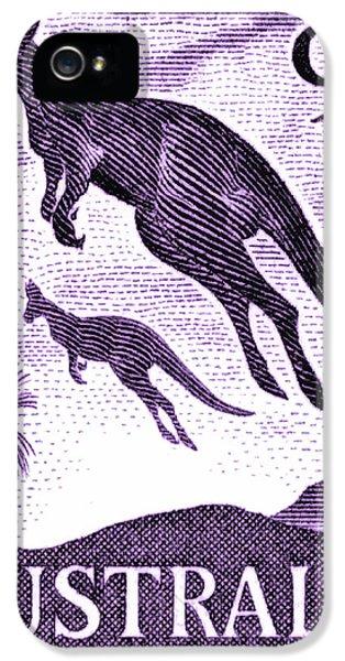 Kangaroo iPhone 5 Case - 1959 Australia Kangaroo Postage Stamp by Retro Graphics