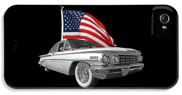 1960 Oldsmobile With Us Flag IPhone 5 Case