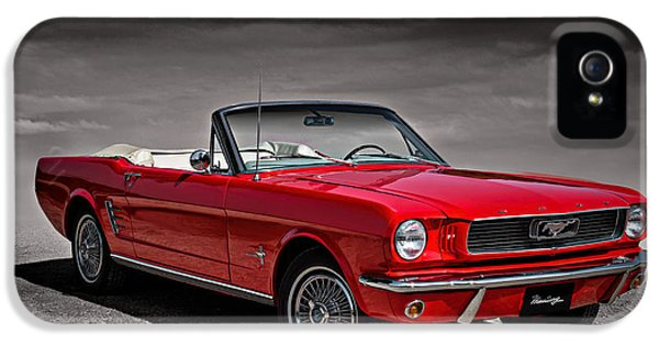 1966 Ford Mustang Convertible IPhone 5 Case by Douglas Pittman