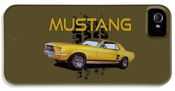 1967 Yellow Ford Mustang IPhone 5 Case by Paul Kuras