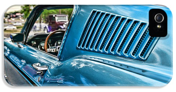 1968 Ford Mustang Fastback In Blue IPhone 5 Case by Paul Ward