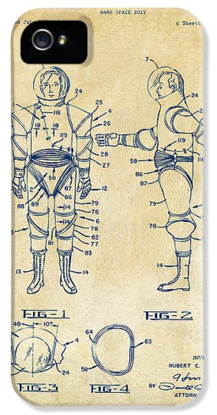 1968 Hard Space Suit Patent Artwork - Vintage IPhone 5 Case