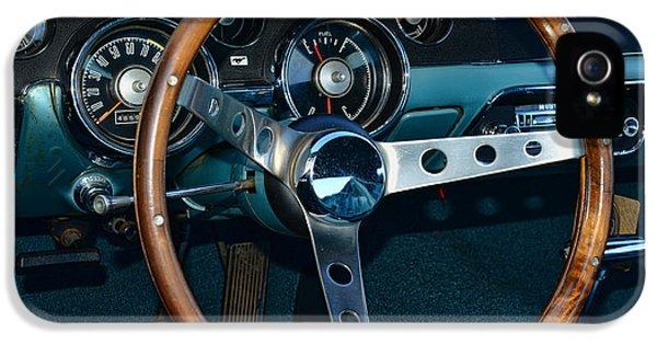 1968 Mustang Fastback Steering Wheel IPhone 5 Case by Paul Ward