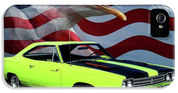 Roadrunner iPhone 5 Case - 1969 Plymouth Road Runner Tribute by Peter Piatt