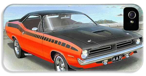 Roadrunner iPhone 5 Case - 1970 Barracuda Aar  Cuda Classic Muscle Car by John Samsen