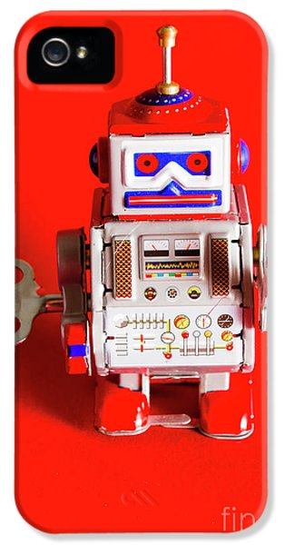 1970s Wind Up Dancing Robot IPhone 5 Case by Jorgo Photography - Wall Art Gallery