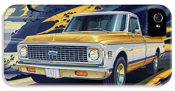 Truck iPhone 5 Case - 1971 Chevrolet C10 Cheyenne Fleetside 2wd Pickup by Garth Glazier