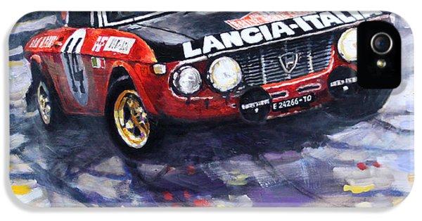 1972 Rallye Monte Carlo Lancia Fulvia 1600hf Munari Mannucci Winner IPhone 5 Case