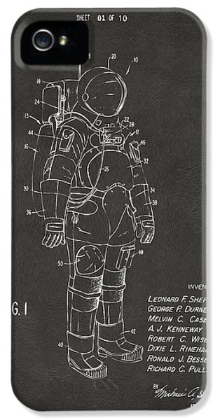 1973 Space Suit Patent Inventors Artwork - Gray IPhone 5 Case