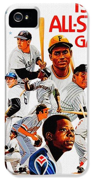 1974 Baseball All Star Game Program IPhone 5 Case