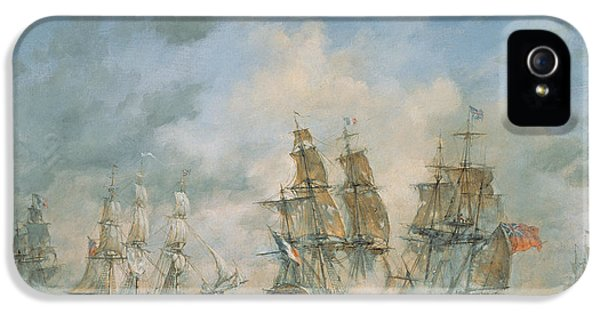 19th Century Naval Engagement In Home Waters IPhone 5 Case by Richard Willis