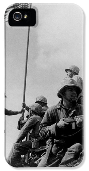 1st Flag Raising On Iwo Jima  IPhone 5 / 5s Case by War Is Hell Store