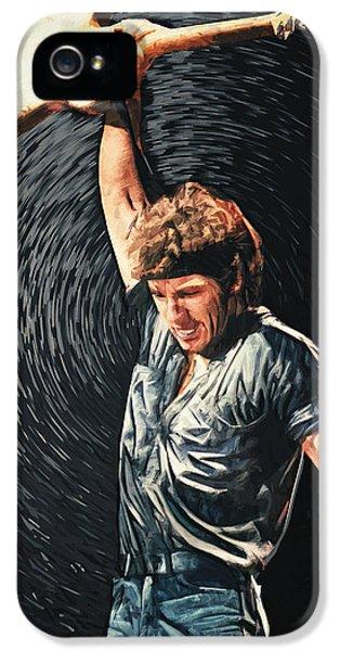 Illustrative iPhone 5 Case - Bruce Springsteen by Taylan Apukovska