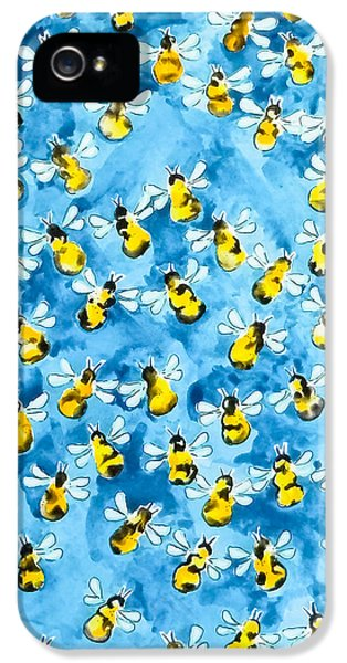Busy, Busy Bee IPhone 5 Case by Roleen Senic