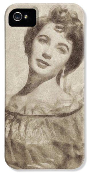 Elizabeth Taylor, Vintage Hollywood Legend By John Springfield IPhone 5 Case by John Springfield