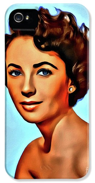 Elizabeth Taylor, Vintage Hollywood Legend IPhone 5 Case by Mary Bassett