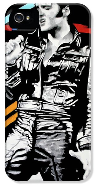 Elvis IPhone 5 Case by Luis Ludzska