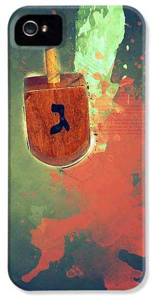 flaming Dreidel IPhone 5 Case