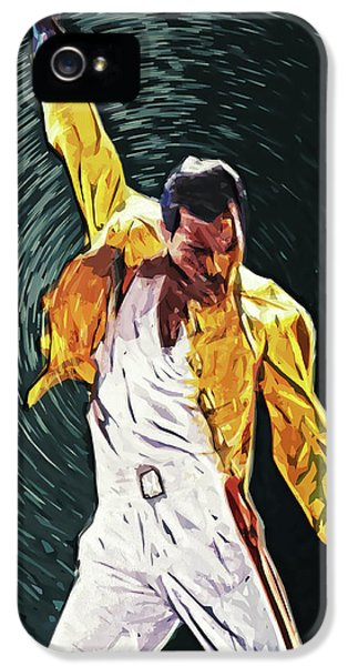 Freddie Mercury IPhone 5 Case by Taylan Apukovska