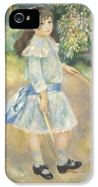 Girl With A Hoop IPhone 5 Case by Pierre Auguste Renoir