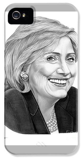 Hillary Clinton IPhone 5 Case by Murphy Elliott