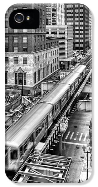 Historic Chicago El Train Black And White IPhone 5 Case by Christopher Arndt