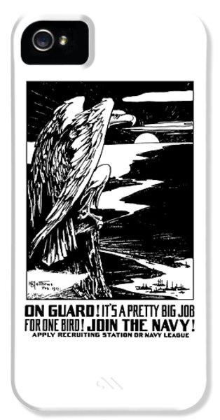 Eagle iPhone 5 Case - On Guard - Join The Navy by War Is Hell Store
