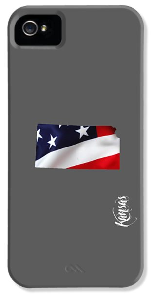 Kansas State Map Collection IPhone 5 Case by Marvin Blaine