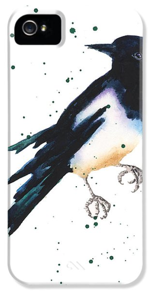 Magpie Painting IPhone 5 Case by Alison Fennell