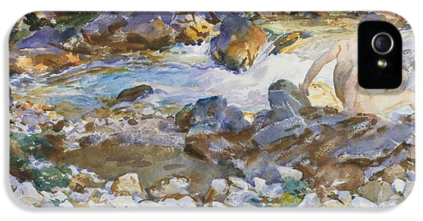 Mountain Stream IPhone 5 Case by John Singer Sargent