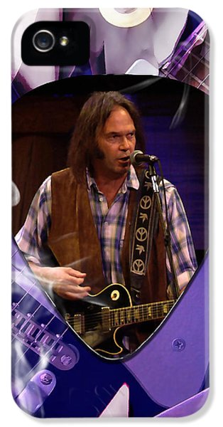 Neil Young Art IPhone 5 Case by Marvin Blaine