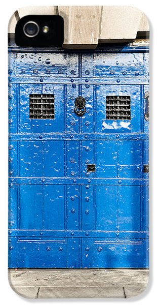 Dungeon iPhone 5 Case - Old Blue Door by Tom Gowanlock